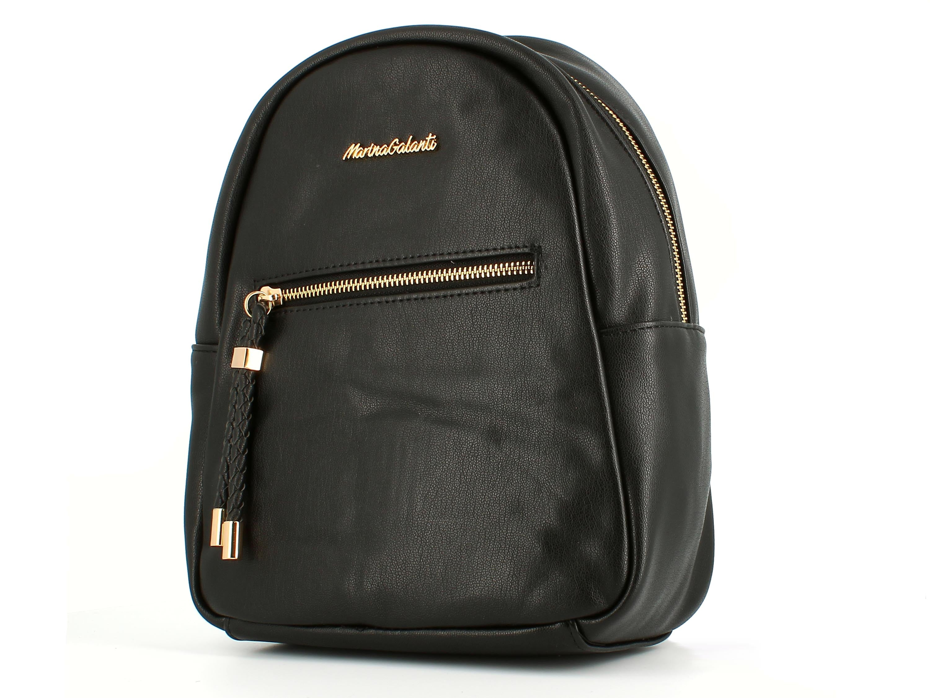 Elle Fashion Rucksack with Toggle Trim Black