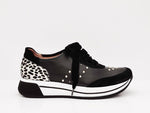 Jose Saenz Velvet Laced Trainer Black Mix