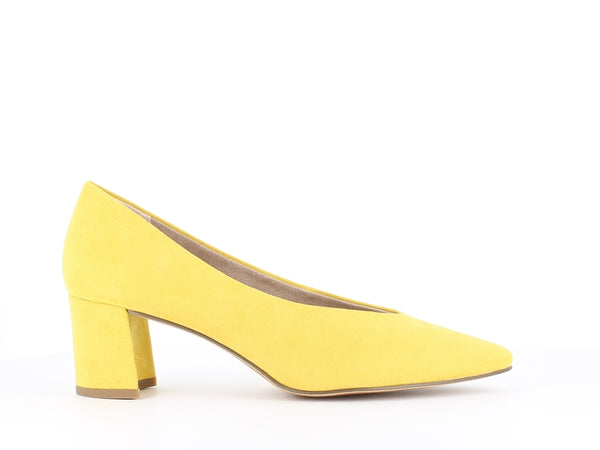 Marco Tozzi Block Heel Court Yellow