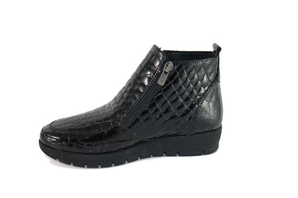 Cinders Croc Patent Ankle Boot