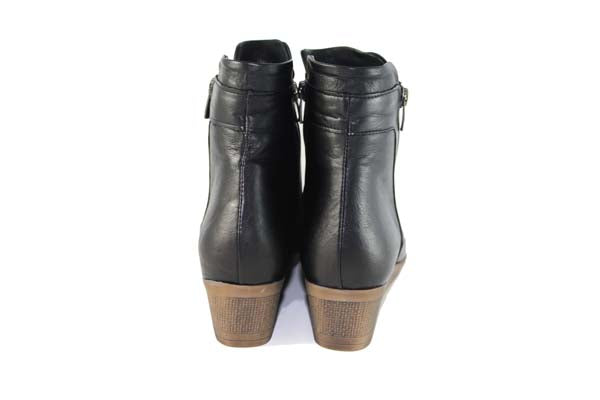 Cinders Double Zip Ankle Boot Black