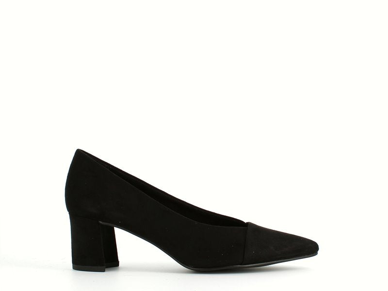 Marco Tozzi Block Heel Court Black