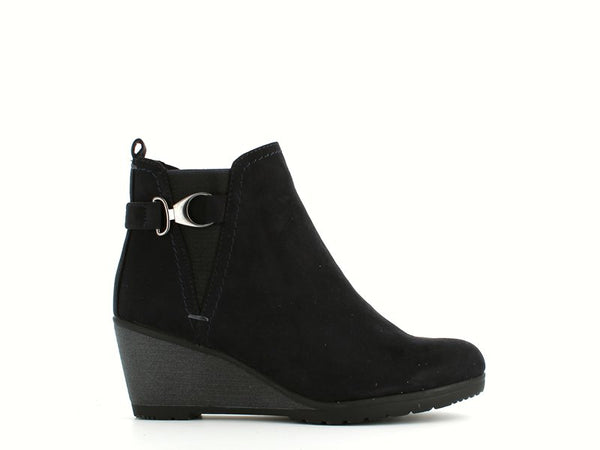 Marco Tozzi Wedge Ankle Boot Navy
