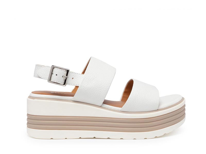 Regarde Le Ciel Sheyla White Wedge Sandal