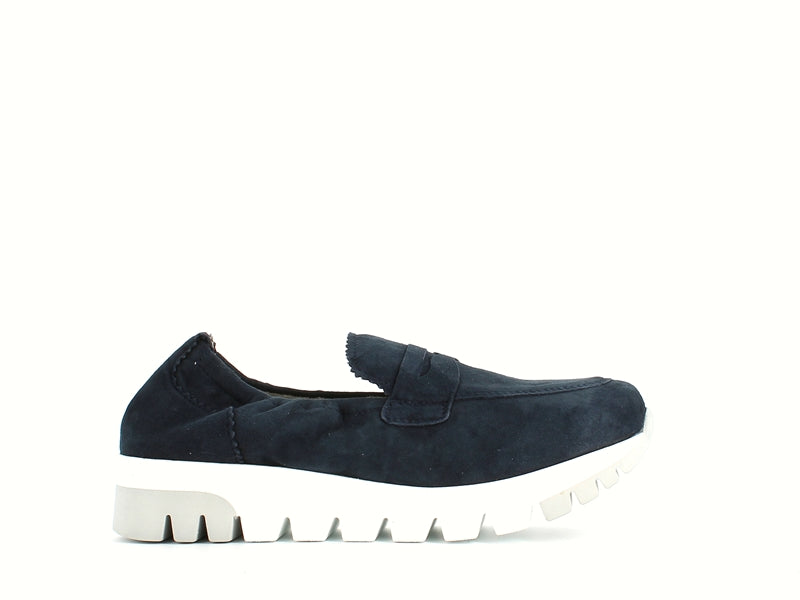 Tamaris Stretch Suede Loafer Navy