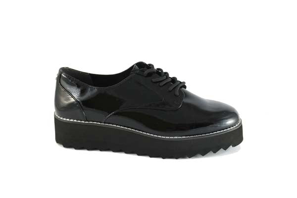 Tamaris Brogue Black Patent