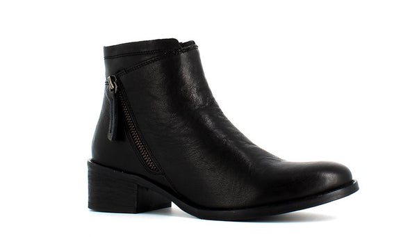 H Hosis Soft Leather Ankle Boot Black