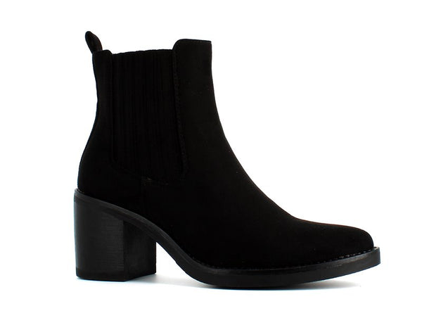 Cinders Suede Ankle Boot Black