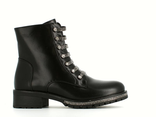 Cinders Fashion Diamante Biker Boots