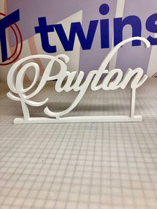 CUSTOM STAND ALONE NAME SIGN - Twins Print