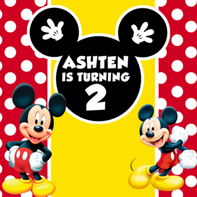 MICKEY  MOUSE BACKDROP 05