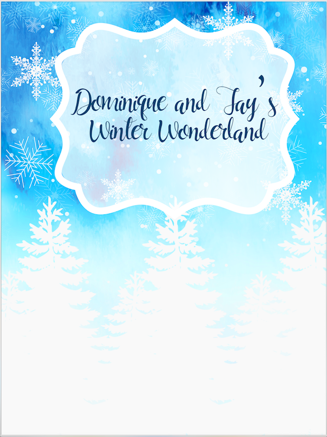 WINTER WONDERLAND BACKDROP 02 - Twins Print