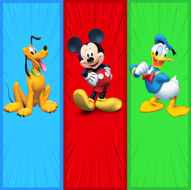 DISNEY CHARACTERS BACKDROP - Twins Print