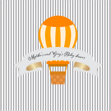 HOT AIR BALLON ORANGE  BACKDROP