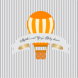 HOT AIR BALLON ORANGE  BACKDROP - Twins Print