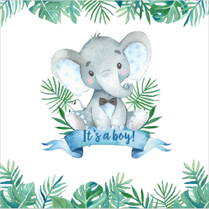 IT'S A BOY /  BABY ELEPHANT BACKDROP
