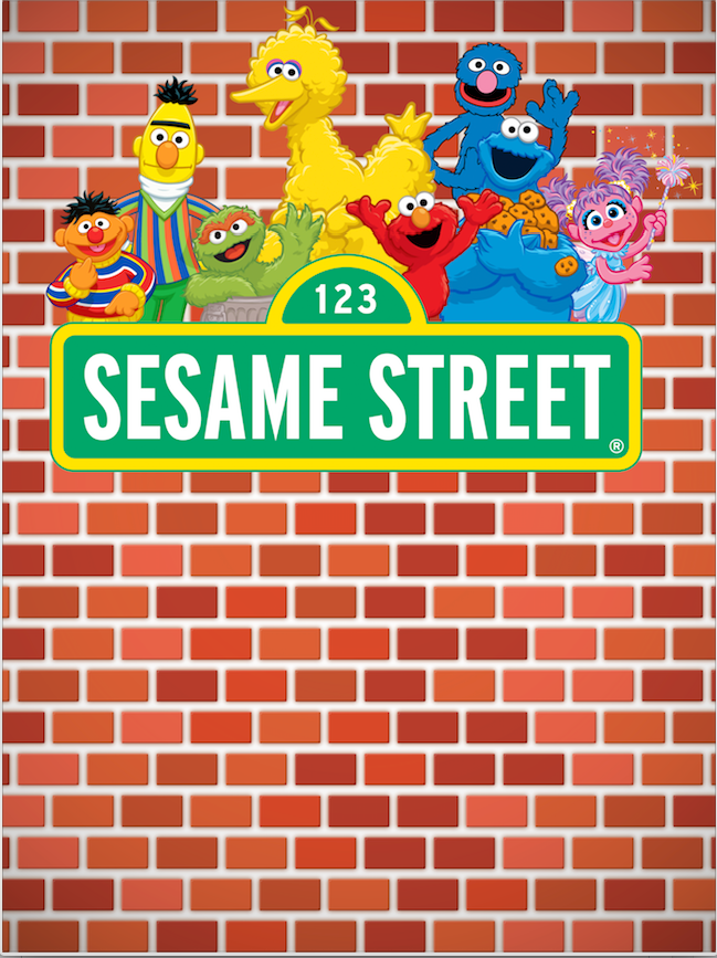 SESAME STREET BACKDROP 01 - Twins Print