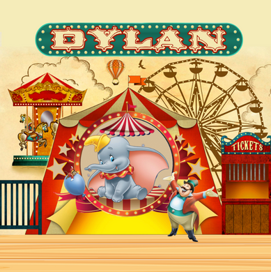 DUMBO CIRCUS  BACKDROP
