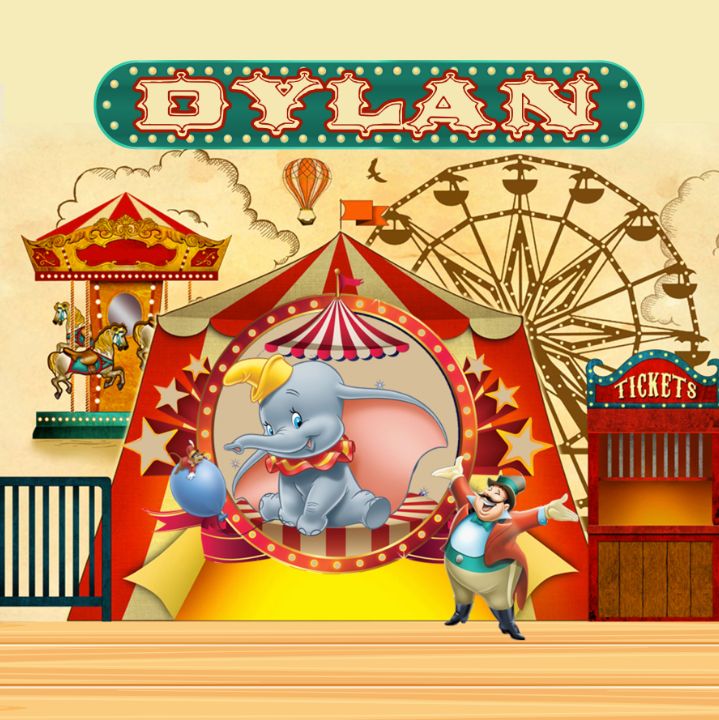DUMBO CIRCUS  BACKDROP - Twins Print