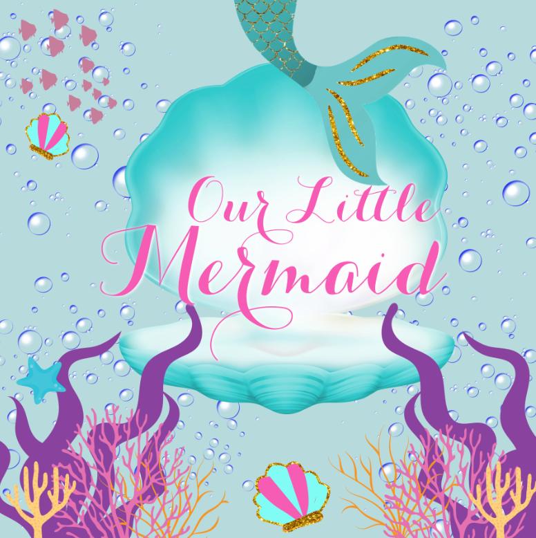 UNDER THE SEA / LITTLE MERMAID BACKDROP - Twins Print