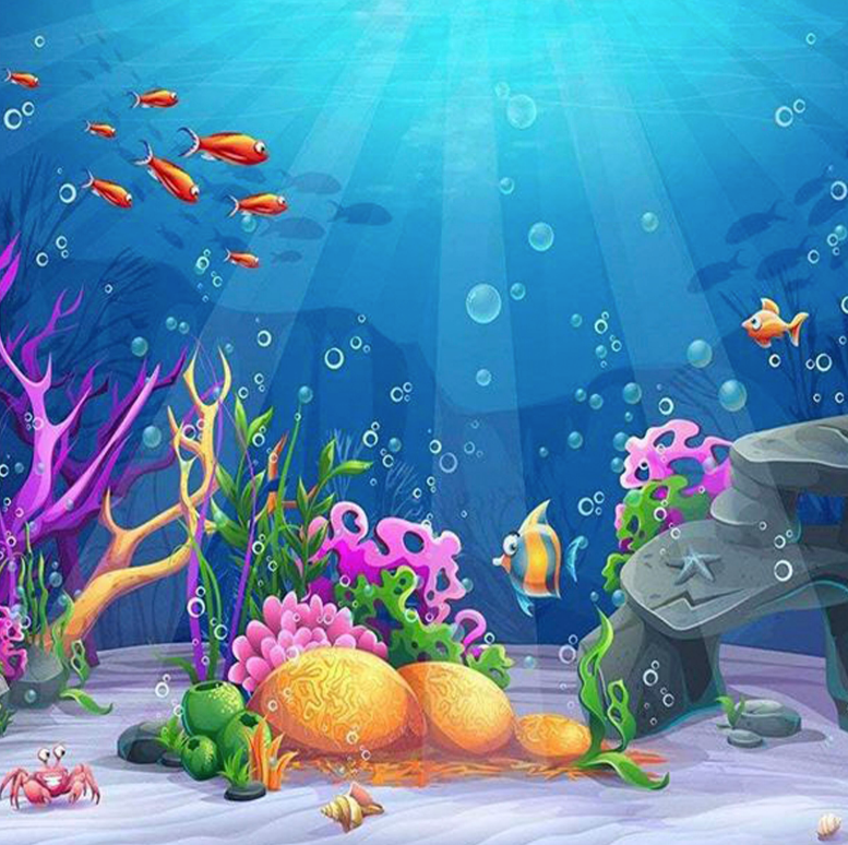 UNDER THE SEA BACKDROP - Twins Print