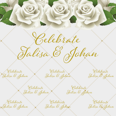 FLOWERS BACKDROP - Twins Print
