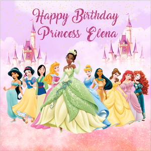 DISNEY PRINCESS  BACKDROP - Twins Print