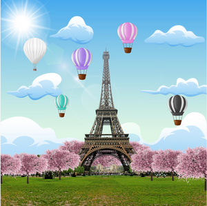 EIFFEL TOWER  BACKDROP - Twins Print
