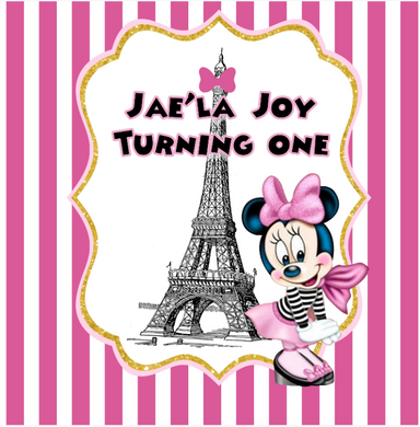 MINNIE MOUSE / PARIS   BACKDROP