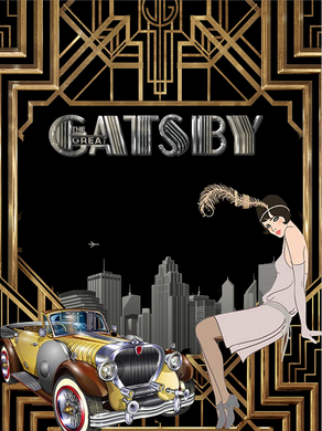 GREAT GATSBY  BACKDROP - Twins Print