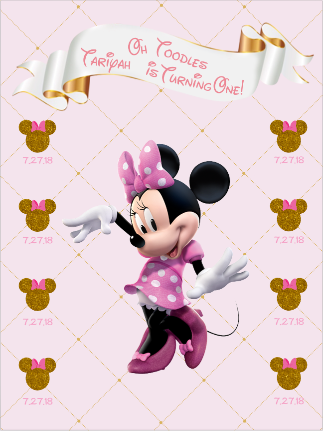 MINNIE MOUSE 002 / OH TOODLES - Twins Print