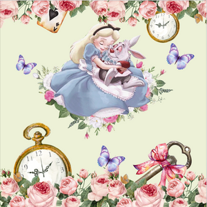 ALICE IN WONDERLAND AND RABBIT 002 BACKDROP - Twins Print