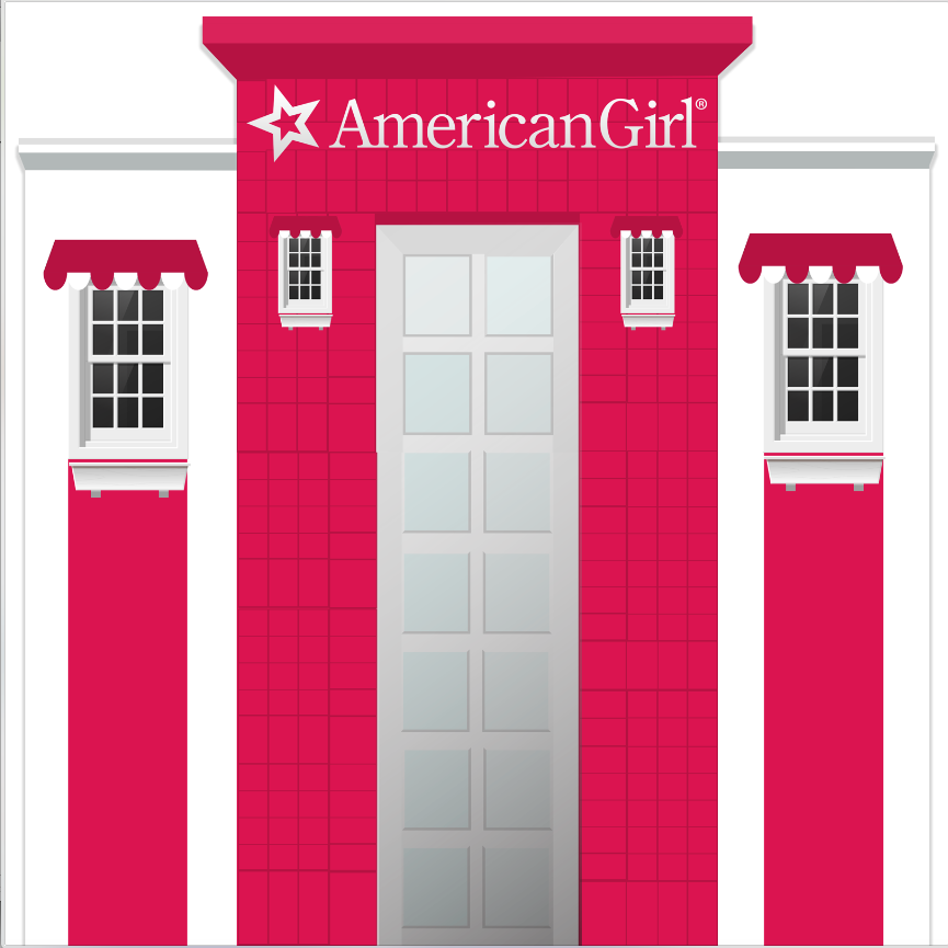 AMERICAN GIRL STORE  BACKDROP - Twins Print