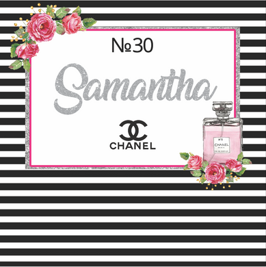 COCO CHANEL  BACKDROP - Twins Print