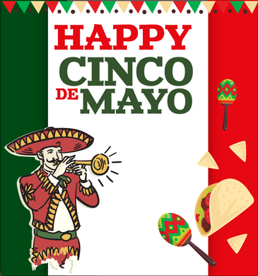 CINCO DE MAYO  BACKDROP 002 - Twins Print