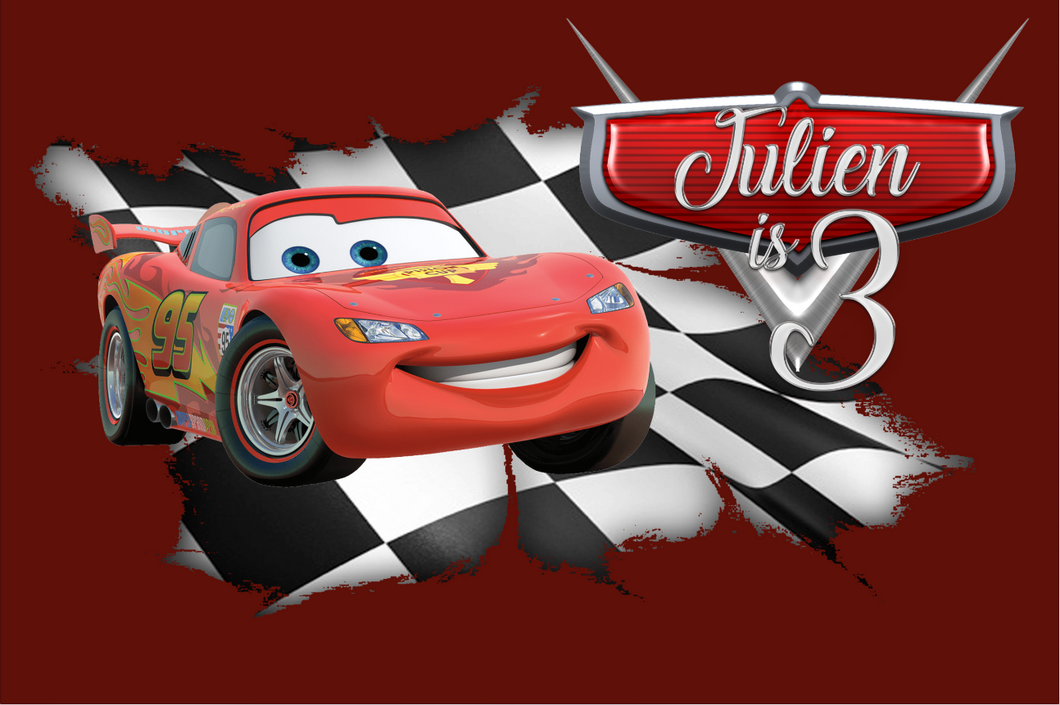 CARS BIRTHDAY BACKDROP - Twins Print