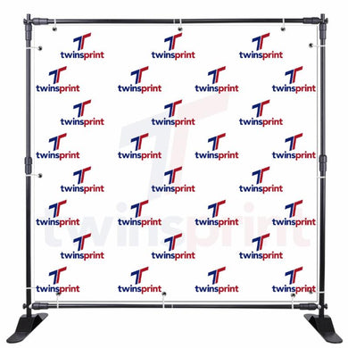 Fabric Step and Repeat Banner - Twins Print