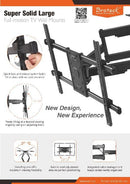 "Speedex LPA49-686 Heavy-Duty Full-Motion TV Wall Mount,  50""- 90"" Flat Panel TVs up to 5kg/165lbs."
