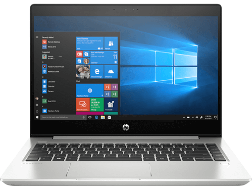 "HP ProBook 440 G6 14"" Notebook - 1366 x 768 - Intel Core i5 (8th Gen) i5-8265U Quad-core (4 Core) 1.60 GHz - 4 GB RAM - 128 GB SSD - Natural Silver - Windows 10 Pro - Intel UHD Graphics 620 - English Keyboard – Mfr # 5VC11UT#ABA"
