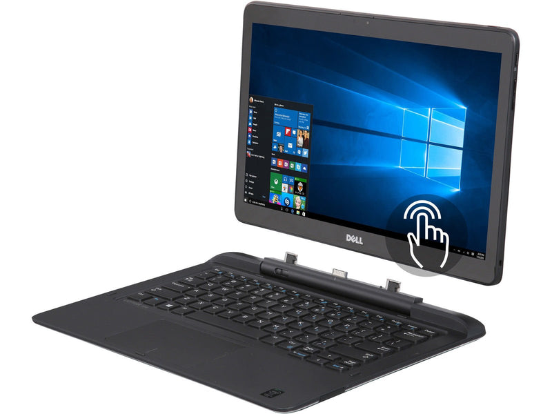 "Dell 7350 Convertible Touch 13.3"", Intel M-5Y71, 8 GB RAM, 256 GB SSD, 13"" , Webcam, Win 10 Pro-90 days Warranty Refurbished (Grade A )"