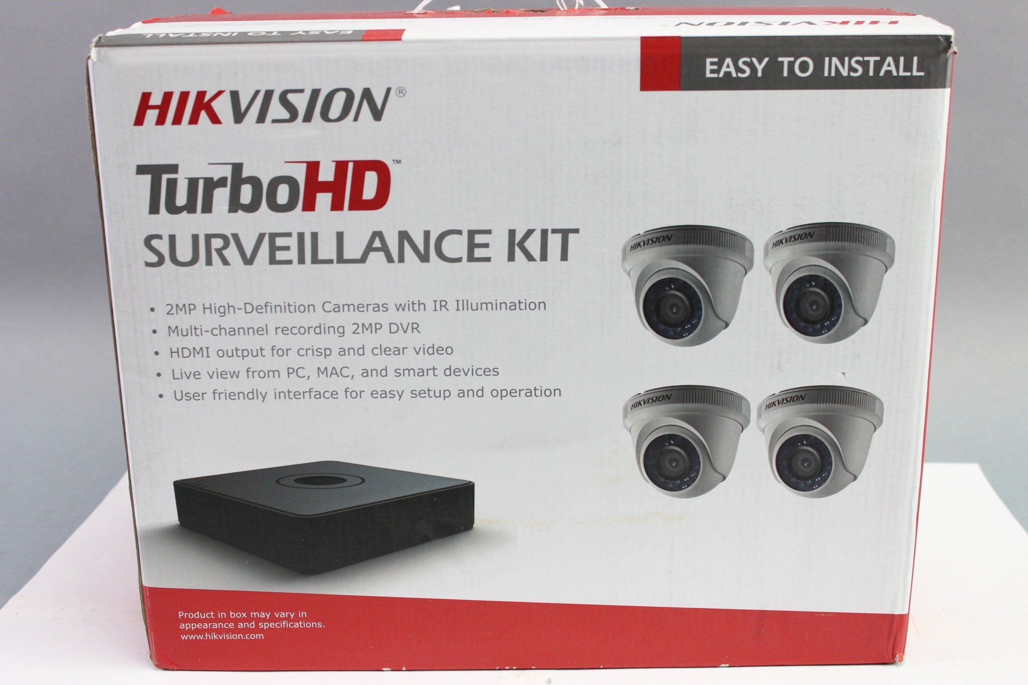 Hikvision 4-Channel 1080p DVR with 1TB HDD and 4 x 1080p Outdoor