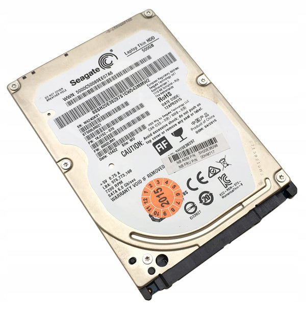 "Seagate Laptop Thin 500GB 2.5"" Hard Disk Drive ST500LM021 - Refurbished"