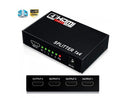 HDMI Splitter 1X4 4 Port Hdmi Hub Repeater Amplifier 1.4 3D 1080p With Power Supply