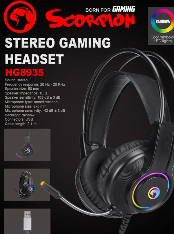 Marvo HG8935 Stereo Gaming Headset with Backlight