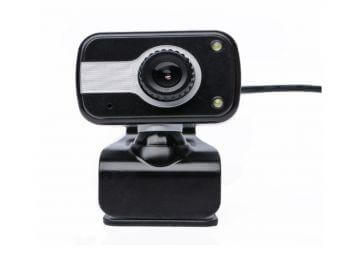 PC & Laptop USB 480p Webcam with Microphone, Lights and Stand