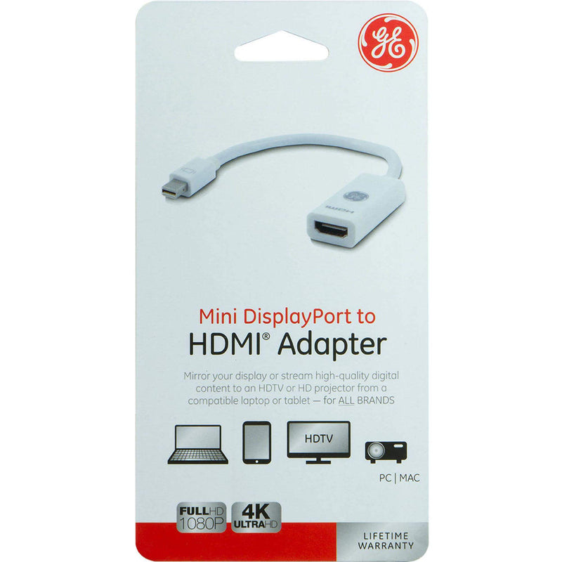 GE Mini DisplayPort to HDMI Adapter Cable