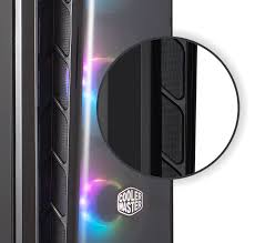 Cooler Master MasterBox MB520 ARGB ATX Mid-Tower with ARGB Lighting System, 3x 120mm ARGB FaTempered Glass, Front Dark Mirror Panel with Mesh Side Intakes, MCB-B520-KGNN-RGA