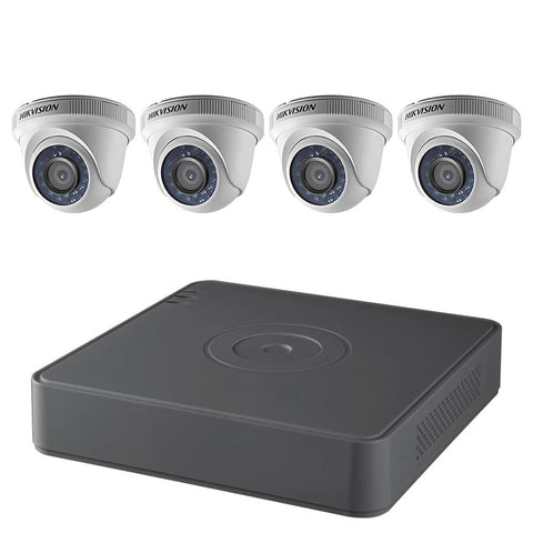 Hikvision 4-Channel 1080p DVR with 1TB HDD and 4 x 1080p Outdoor Turret Cameras Kit T7104Q1TA