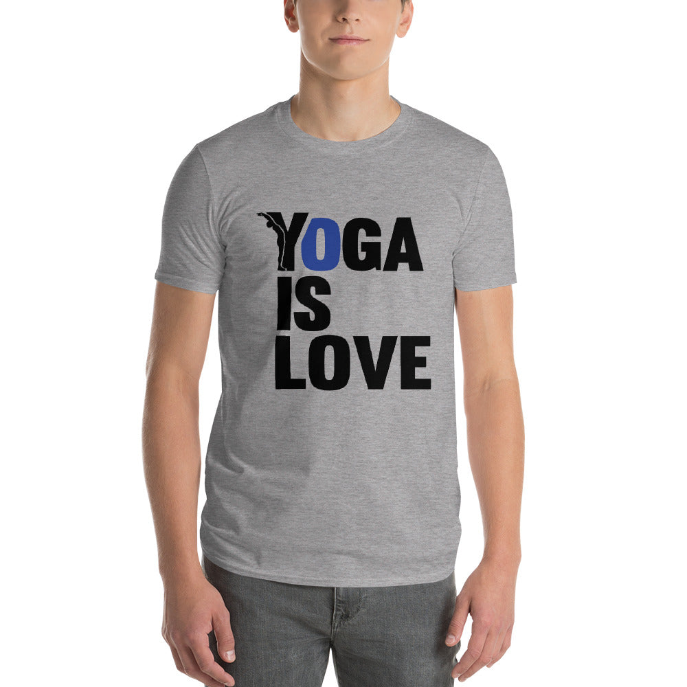 t-shirt homme yoga - yofe - le yoga is love-YOFE YOGA