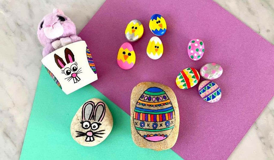 3 Easy Rock Painting Ideas for Kids this Easter
